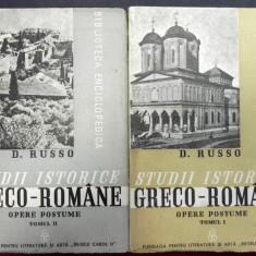 Istorie - Studii istorice greco-romane opere postume vol I-II de D.Russo, Bucuresti 1939