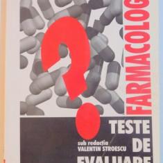 FARMACOLOGIE, TESTE DE EVALUARE, 2001