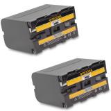 Baterie Aparat foto - A PATONA | 2 Acumulatori compatibili Sony NP-F970 NPF970 NP F970 | 6600 mAh
