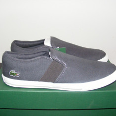 Tenisi Lacoste Lombarde Trainers Dark Grey/Light Grey nr. 39 - Tenisi barbati Lacoste, Textil