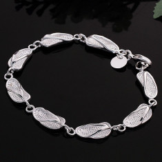 Bratara argint - Bratara superba argint 925; 18.5 - 19.5 cm lungime reglabila