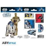 Set Stickers Star Wars 16X11cm R2-D2/C3po