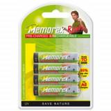 Set 4 acumulatori reincarcabili Memorex 1.2V AAA / HR03