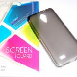 Husa Protectie Silicon Gel TPU Allview A5 Easy + Folie CADOU!!! - Husa Telefon Allview, Negru