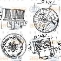 Ventilator, habitaclu VW PASSAT 1.4 TSI - HELLA 8EW 351 043-221 - Motor Ventilator Incalzire
