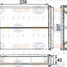Schimbator caldura, incalzire habitaclu MERCEDES-BENZ limuzina 200 - HELLA 8FH 351 311-611 - Sistem Incalzire Auto