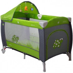 Pat Pliant Samba Lux - Coto Baby - Verde - Patut pliant bebelusi