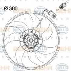Ventilator, radiator VAUXHALL COMBO Mk II caroserie inchisa/combi 1.4 16V - HELLA 8EW 351 034-431 - Ventilatoare auto PIERBURG