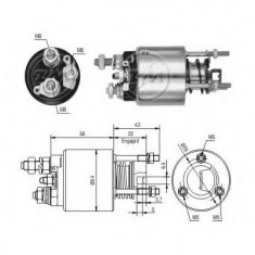 Solenoid, electromotor FIAT UNO 45 - ERA 227180