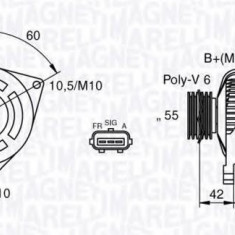 Generator / Alternator VOLVO C30 1.6 D2 - MAGNETI MARELLI 063377416010 - Alternator auto