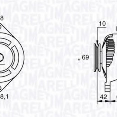 Generator / Alternator DAEWOO MATIZ 0.8 - MAGNETI MARELLI 063532620010 - Alternator auto
