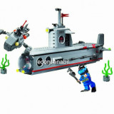 Joc tip Lego Submarin cu 4 Soldati Combat Zones 816
