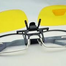 Ochelari pentru noapte si ceata clip-on, flip-up