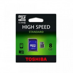 Card memorie microSDHC |8GB cu adaptor SD|Toshiba