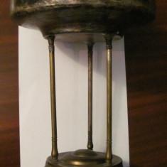 CY - Fructiera veche mare deosebita alama argintata - Metal/Fonta, Vase