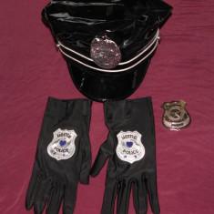Sapca, manusi, insigna Police/politie, ideal jocuri erotice