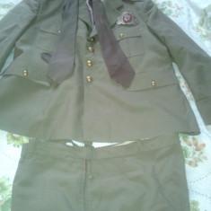 Tinuta militara haina, pantaloni 2 cravate - Uniforma militara, Marime: 46, Culoare: Verde