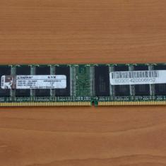 Memorie RAM 1GB DDR400 PC3200 Kingston (1 x 1GB), 400 mhz