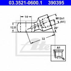 Conector, conducte metal - ATE 03.3521-0600.1