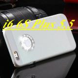 Husa sclipici iphone 6 plus, 6s plus strasuri, cristale - alb - Husa Telefon