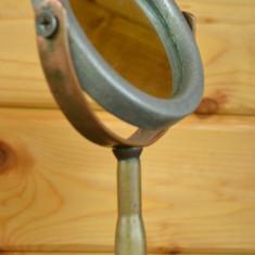 Oglinda cosmetica veche realizata manual, pentru barbierit, anii '50 - Oglinda baie