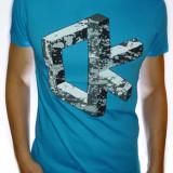 Tricou Calvin Klein - Tricou ck Tricou slim Tricou Bărbat tricou bleu tricou - Tricou barbati