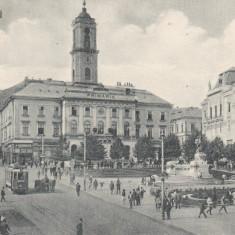 BUCOVINA CERNAUTI PRIMARIA TRAMVAI ELECTRIC TRASURI ANIMATIE CIRC.1928 - Carte Postala Bucovina dupa 1918, Circulata, Printata