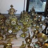 Colectie de obiecte din cupru, alama, lemn