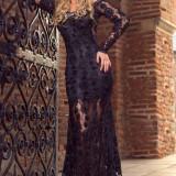 P474-1 Rochie eleganta de seara, cu broderie Romantic Night