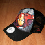 Sapca Marvel Iron Man Trucker , originala New Era 100 % , noua