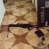 Vand replica / arma airsoft G36C cu teava lunga si bipod