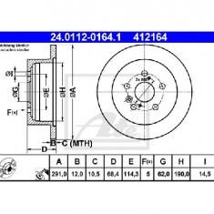 Disc frana TOYOTA PREVIA MCR3 ACR3 CLR3 PRODUCATOR ATE 24.0112-0164.1 - Discuri frana