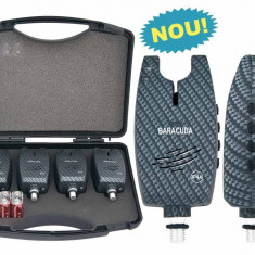 Set 4 avertizoare TLI029 + valigeta transport Baracuda - Avertizor pescuit