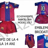 ECHIPAMENT FOTBAL COPII 4-15 ANI, BARCELONA-MESSI, MODEL 2017, LIVRARE GRATUITA - Set echipament fotbal Nike, XXXL, XXL, XL, L, M