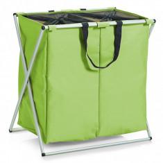Cos rufe Zeller, poliester si cadru aluminiu, verde, 59x37x58 cm