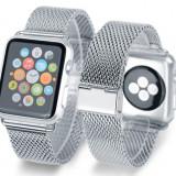 Curea metalica pentru Apple Watch 42 MM, argintiu - Suport auto