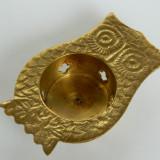 Bufnita INDIA alama suport- lumanare - Metal/Fonta