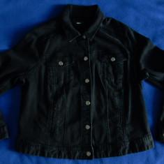 Geaca de blugi neagra de dama H&M - Jacheta dama H&m, Marime: 50, Culoare: Negru, Bumbac