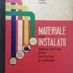 MATERIALE PENTRU INSTALATII TEHNICO-SANITARE, GAZE, INCALZIRE, VENTILATIE Voinea - Carti Constructii