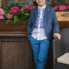 Sacou Iridor baieti Greece (Culoare: albastru, Imbracaminte pentru varsta: 8 ani - 128 cm)