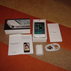 Apple iPhone 4 16GB NEVERLOCKED CA NOU LA CUTIE - 439 LEI !!!, Alb, Neblocat