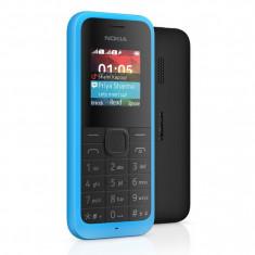 Telefon Nokia - Telefon mobil Nokia 105, Dual Sim, albastru