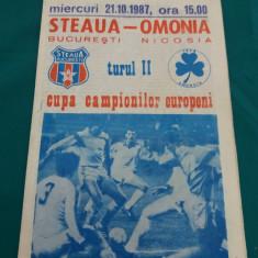 PROGRAM MECI STEAUA- OMONIA/1987