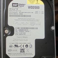 Hard Disk Western Digital, 200-499 GB, Rotatii: 7200, SATA, 8 MB - Vind un HDD SATA Western Digital -200GB, folosit, 3, 5'', pentru desktop-uri.