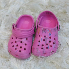 Papuci copii plaja roz crocs nr 20, Culoare: Din imagine