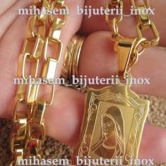 Lant + medalion inox placat = 50 ron - Lantisor placate cu aur
