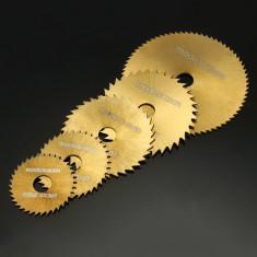 Set 5 discuri (acoperite cu titan) din otel pentru biax (Dremel)