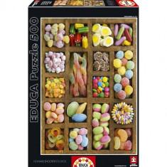 Puzzle Educa Cutia cu Dulciuri 500 Piese
