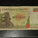 Bancnota 50 dolari Zimbabwe 1994, Africa, An: 1994