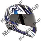 MBS Casca integrala Airoh Leox Splint, alba/albastra, M, Cod Produs: LXSP18M - Casca moto